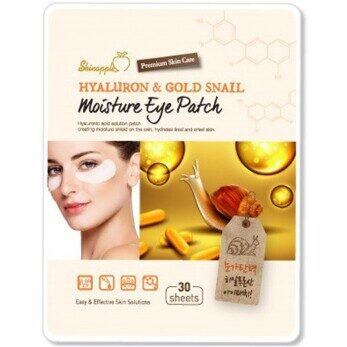 Skinapple Hyaluron and Gold Snail Moisture Eye Patch 30шт